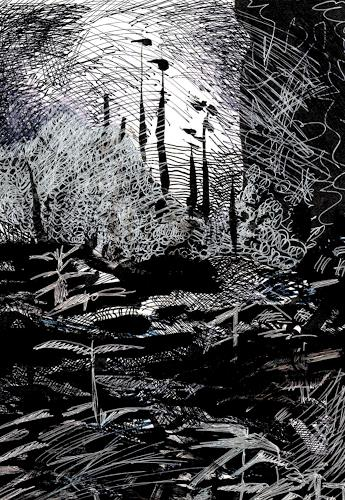 Susanne Thäsler-Wollenberg, Apokalypse 2, Diverse Landschaften, Skurril, expressiver Realismus