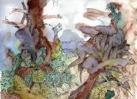 Susanne-Thaesler-Wollenberg-Landschaft-Fantasie-Moderne-Expressionismus