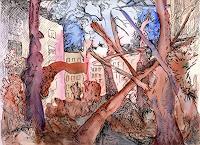 Susanne-Thaesler-Wollenberg-Landschaft-Landschaft-Herbst-Moderne-Expressionismus-Abstrakter-Expressionismus