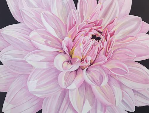 Madeleine Schertenleib, Dahlie, Pflanzen: Blumen, expressiver Realismus