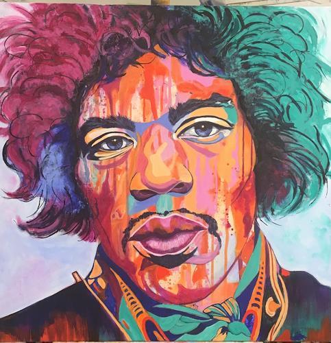 Madeleine Schertenleib, Jimi Hendrix, Menschen: Porträt, expressiver Realismus