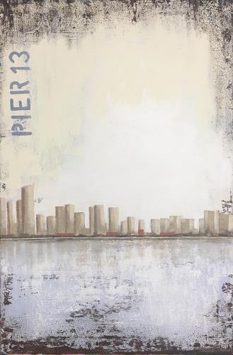 Madeleine Schertenleib, Manhattan, Landschaft: See/Meer, Abstrakte Kunst