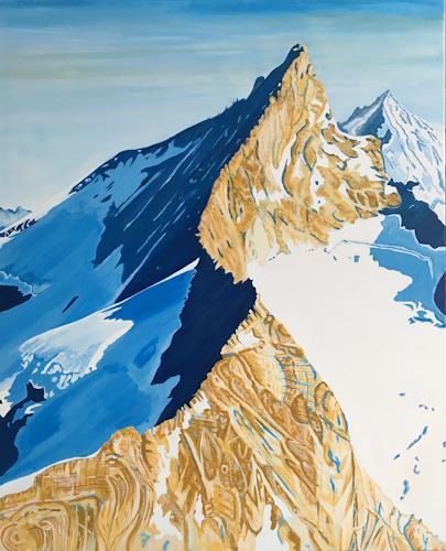 Madeleine Schertenleib, Bergwelt, Landschaft: Berge, Abstrakte Kunst, Expressionismus