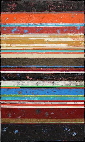 Alexander Majer, Line 9, Abstraktes, Landschaft, Aktionskunst, Expressionismus