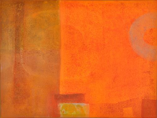 Regina Hermann, Warme Monde, Abstraktes, Abstraktes, Abstrakte Kunst