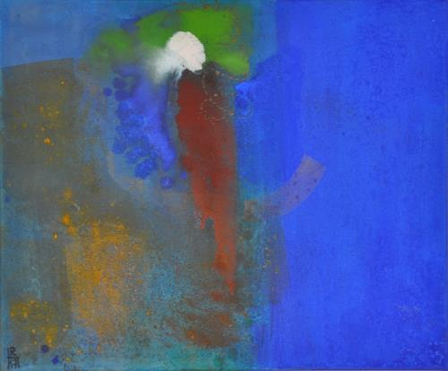 Regina Hermann, Blau, Abstraktes, Abstrakte Kunst, Expressionismus