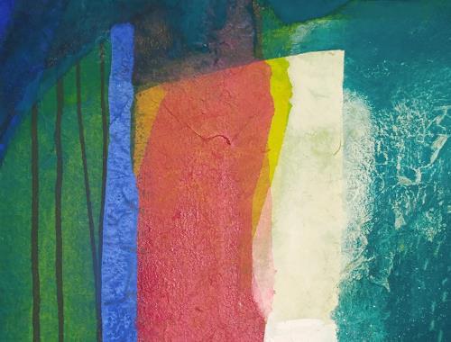 Regina Hermann, Detailaufnahme Farbklänge 2, Abstraktes, Abstrakte Kunst