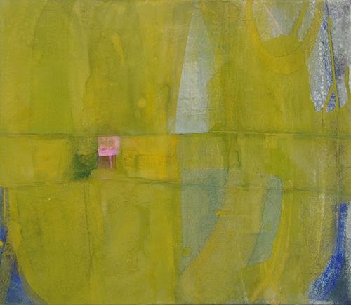Regina Hermann, Grüner Raum, Abstraktes, Abstrakte Kunst