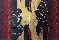 Nora-Block-Menschen-Paare-Akt-Erotik-Gegenwartskunst-New-Image-Painting
