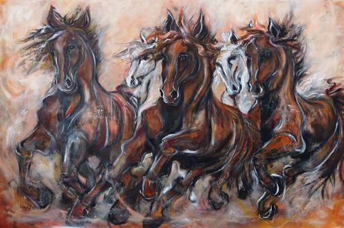 Nora Block, Winner, Tiere, Bewegung, Impressionismus