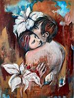 Nora-Block-Menschen-Paare-Akt-Erotik-Moderne-expressiver-Realismus