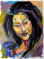 Nora-Block-Menschen-Frau-Menschen-Portraet-Moderne-Abstrakte-Kunst