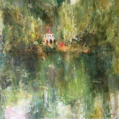Natalia Simonenko, Abbaye, Landschaft: Sommer, Natur: Diverse, Neo-Impressionismus, Expressionismus