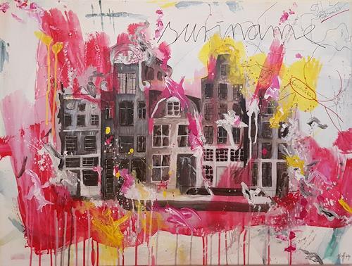 Anett Hoffmann, They worked hard for the coffee- Amsterdam, Architektur, Geschichte, Gegenwartskunst, Abstrakter Expressionismus