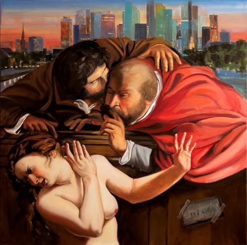 JoAchim Nowak, Susanna im Bade (3). Im Fokus: die Alten., Menschen: Porträt, Pop-Art, Abstrakter Expressionismus