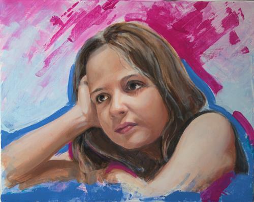 JoAchim Nowak, OT, Menschen: Porträt, Abstrakte Kunst, Expressionismus