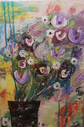 Leonie, Printemps, Pflanzen: Blumen, Abstrakte Kunst, Expressionismus