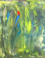 Claudia-Caseri-Pflanzen-Blumen-Pflanzen-Moderne-Expressionismus-Abstrakter-Expressionismus