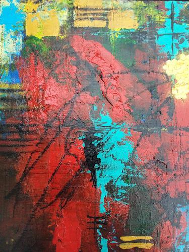 Jutta Mahnke, o.T., Abstraktes, Abstrakter Expressionismus