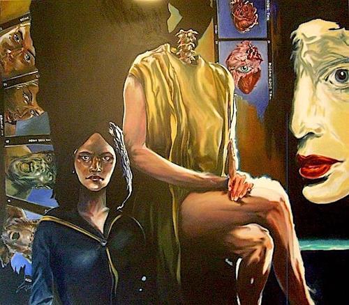 ALIM, Philosophische Gedanken, Menschen: Frau, Menschen: Paare, Symbolismus, Abstrakter Expressionismus