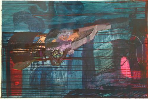 Engelbert Engel, Landstück, Abstraktes, Abstrakte Kunst, Abstrakter Expressionismus