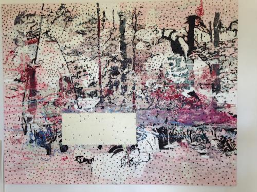 Engelbert Engel, Waldstück, Abstraktes, Abstrakte Kunst, Expressionismus
