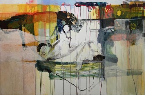Engelbert Engel, Gartenarbeit, Menschen, Abstrakte Kunst, Expressionismus