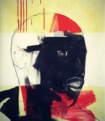 Francisco Núñez, San Nadie, Menschen: Gesichter, Abstraktes, Abstrakte Kunst
