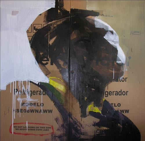 Francisco Núñez, No apoye sobre este lado, Menschen: Porträt, Abstraktes, Abstrakte Kunst