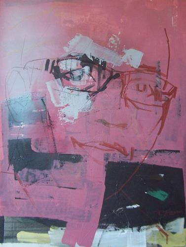 Francisco Núñez, Autoretrato, Menschen: Porträt, Abstraktes, Abstrakte Kunst
