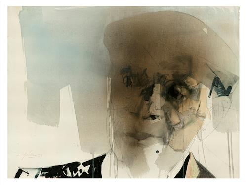 Francisco Núñez, Tata Güines, Menschen, Abstraktes, Expressionismus, Abstrakter Expressionismus
