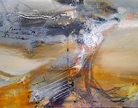 oneiricgallery, LARGE PAINTING A WARM AND VOLATILE DESIRE UNIQUE STYLE MINDSCAPE LIGHTSCAPE BY O KLOSKA