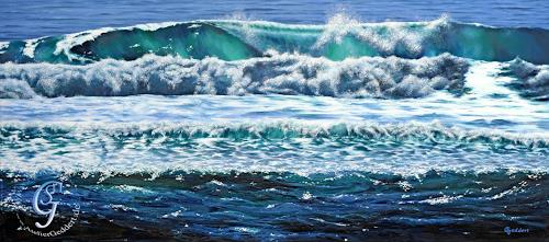 Sabine Geddert, Mehr im Meer, Landschaft: See/Meer, Fantasie, Surrealismus