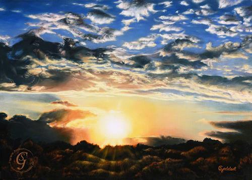 Sabine Geddert, Abendschöne, Diverse Landschaften, Fantasie, Surrealismus