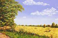 Sabine-Geddert-Landschaft-Herbst-Fantasie-Moderne-Avantgarde-Surrealismus