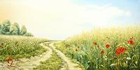 Sabine-Geddert-Landschaft-Sommer-Fantasie-Moderne-Avantgarde-Surrealismus