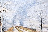 Sabine-Geddert-Landschaft-Winter-Fantasie-Moderne-Avantgarde-Surrealismus