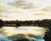 Sabine-Geddert-Landschaft-See-Meer-Fantasie-Moderne-Avantgarde-Surrealismus