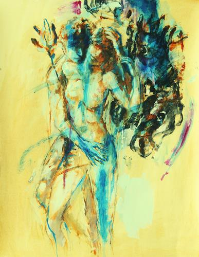 Ambro Dritty, Garden, Akt/Erotik: Akt Frau, Akt/Erotik: Akt Mann, Neo-Expressionismus, Expressionismus