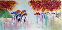 Alla-Alevtina-Volkova-Landschaft-Herbst-Natur-Wasser-Moderne-Impressionismus-Neo-Impressionismus