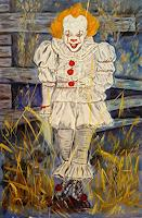 A. Volkova, Dancing Clown Pennywise It Movie Modern hype painting