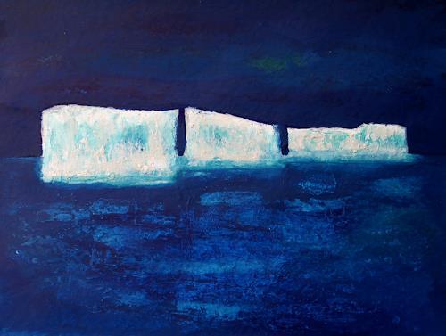 Claudia Irene Carmen Simon, Klimawandel, Landschaft: Winter, Natur: Wasser, Moderne