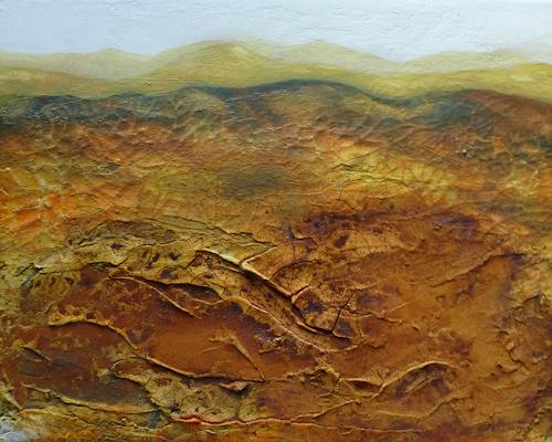 Claudia Irene Carmen Simon, Wüste, Landschaft: Berge, Natur: Erde, Moderne