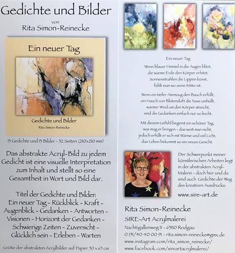 Rita Simon-Reinecke, Ein neuer Tag - Gedichte und Bilder, Abstraktes, Abstrakte Kunst