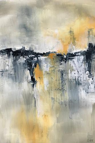 Rita Simon-Reinecke, Ferne Ufer, Abstraktes, Abstrakte Kunst