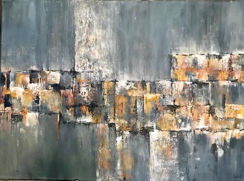 Rita Simon-Reinecke, Schattierungen, Abstraktes, Abstrakte Kunst, Expressionismus