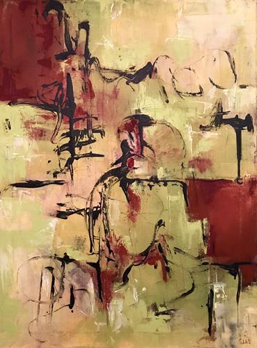Rita Simon-Reinecke, Begegnungen, Abstraktes, Abstrakter Expressionismus