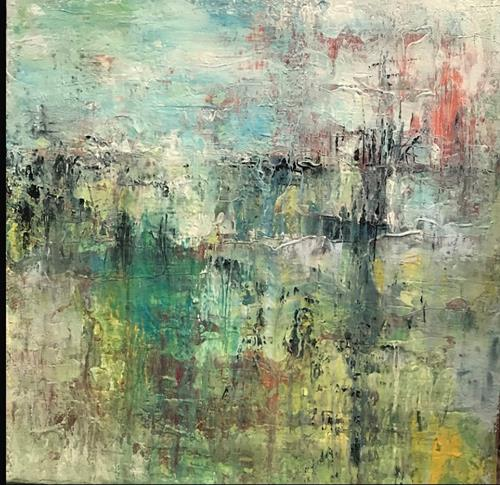 Rita Simon-Reinecke, Teich, Abstraktes, Abstrakter Expressionismus