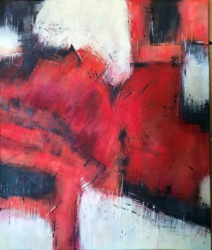 Rita Simon-Reinecke, Kraftvoll, Abstraktes, Abstrakter Expressionismus
