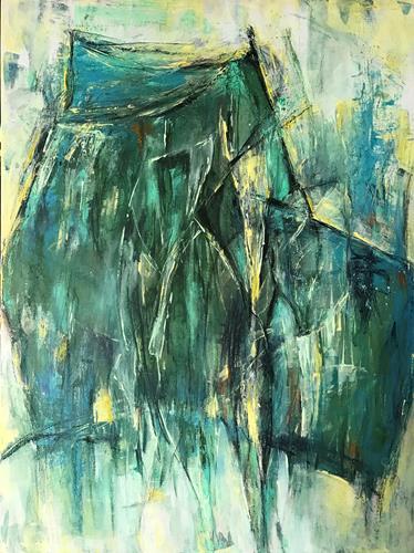 Rita Simon-Reinecke, Doppelspiel, Abstraktes, Abstrakter Expressionismus